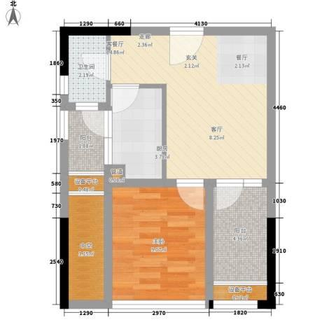 大有智慧广场1室1厅1卫1厨48.00㎡户型图
