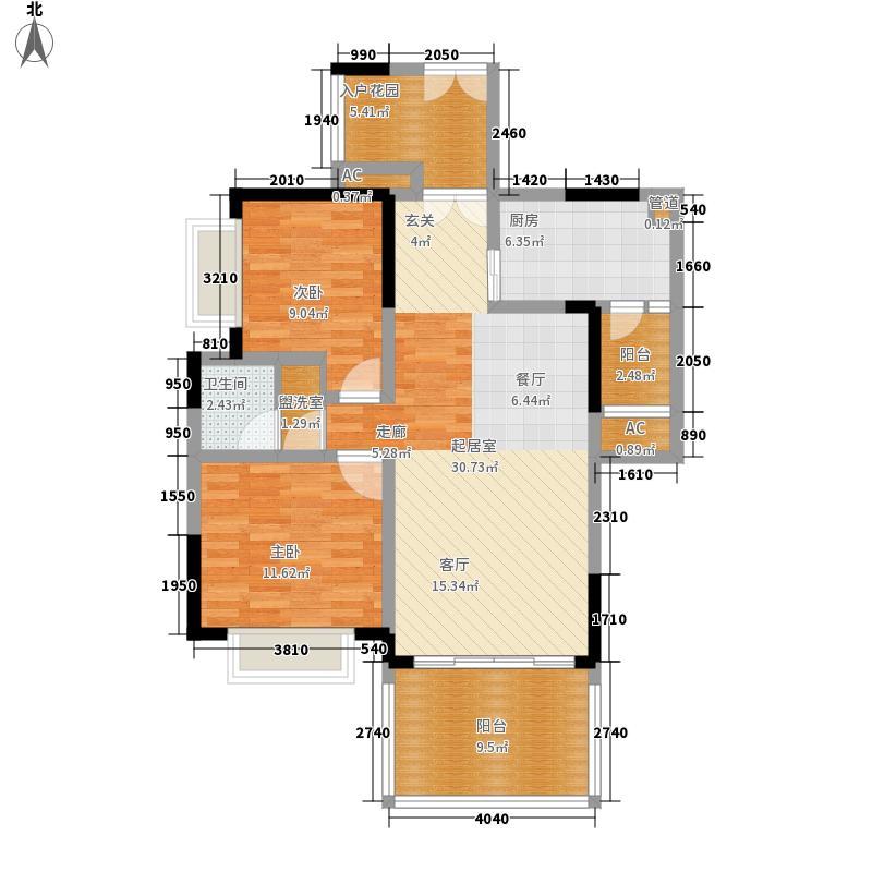 仁和春天国际花园95.40㎡一期7号楼标准层B5售罄户型