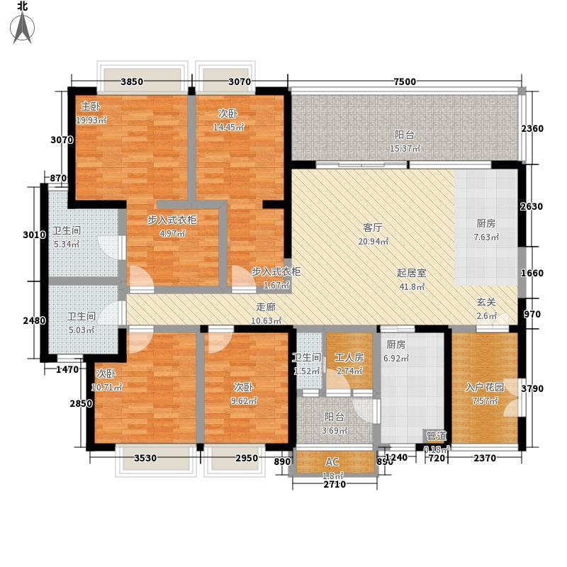 仁和春天国际花园180.51㎡一期7号楼标准层B1户型