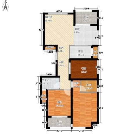 苏纶里3室0厅1卫1厨134.00㎡户型图