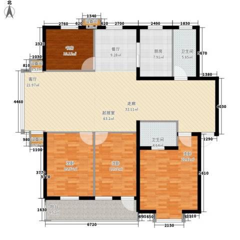 舜都锦都苑4室0厅2卫1厨169.00㎡户型图