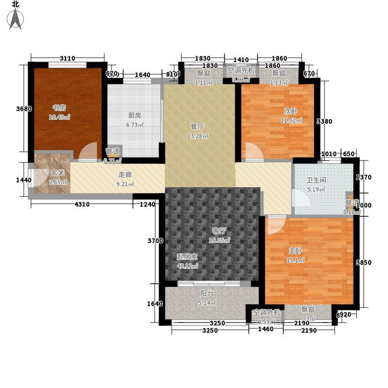 实地·玫瑰庄园109.00㎡户型3室2厅