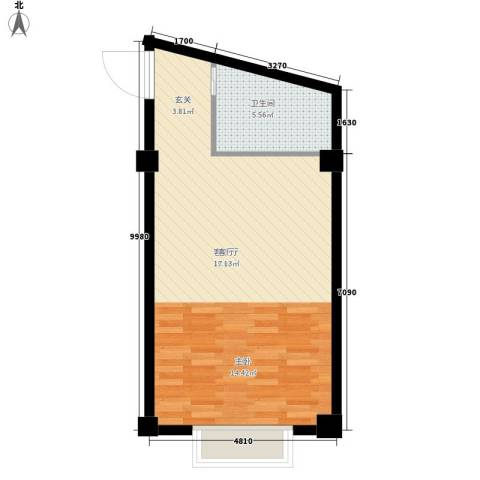 碧波街29号1厅1卫0厨45.00㎡户型图
