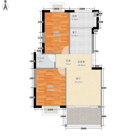 林苑小区2室0厅1卫1厨89.00㎡户型图