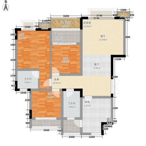 公园一号3室0厅2卫1厨115.00㎡户型图