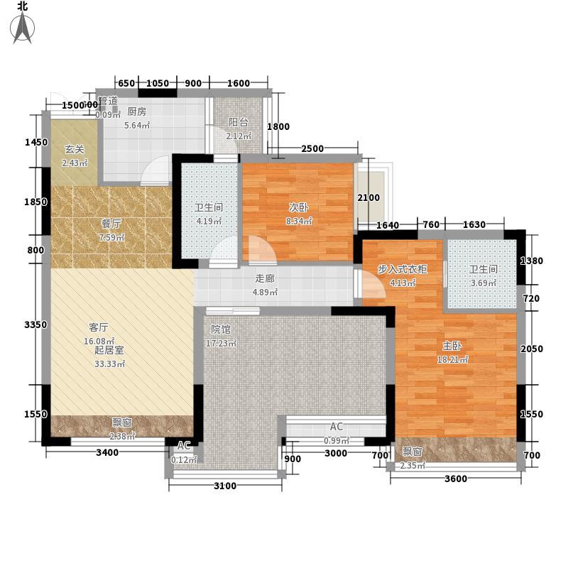 海悦蓝庭105.00㎡面积10500m户型