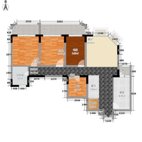嘉和苑4室0厅1卫1厨119.00㎡户型图