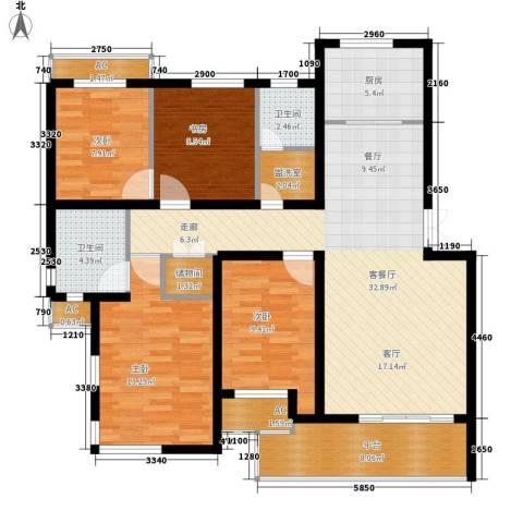 盘蠡新村4室1厅2卫1厨115.00㎡户型图