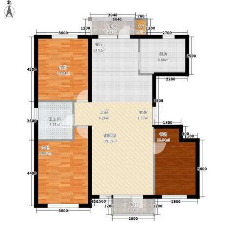 锦城明郡3室0厅1卫1厨141.00㎡户型图