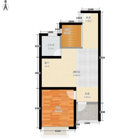金益二村1室0厅1卫1厨52.00㎡户型图
