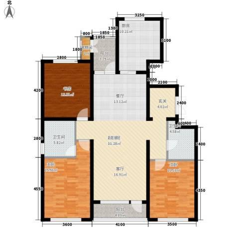 锦城明郡3室0厅2卫1厨167.00㎡户型图