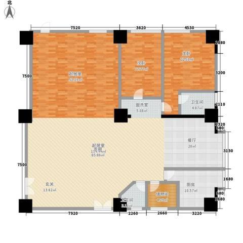 新世纪大厦2室0厅2卫1厨302.00㎡户型图