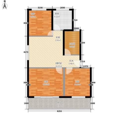 乌鹊桥路小区3室0厅1卫1厨95.00㎡户型图