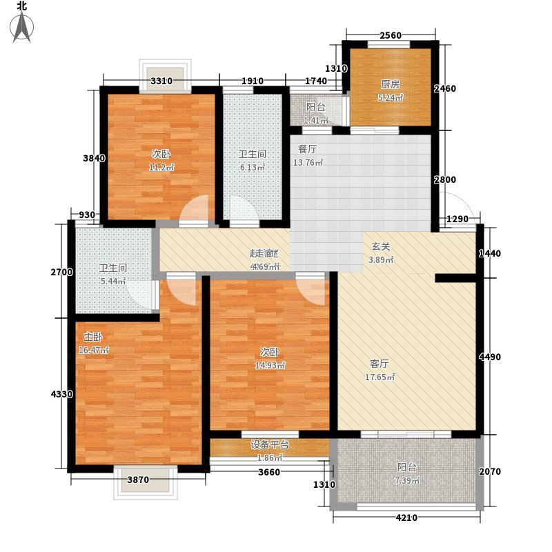 禾盛花苑126.28㎡一期3号楼标准层面积12628m户型