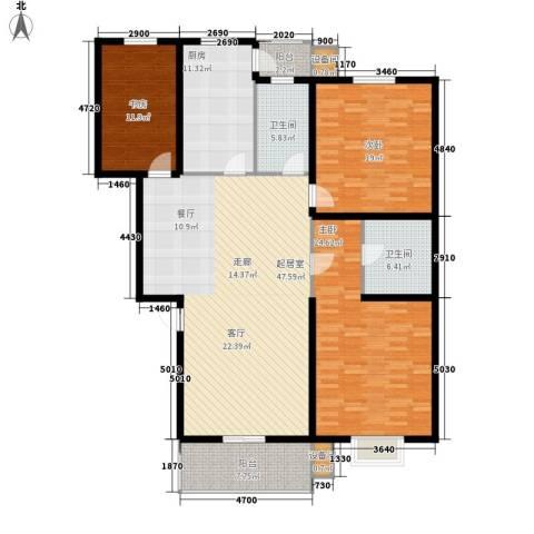 舜都锦都苑3室0厅2卫1厨192.00㎡户型图