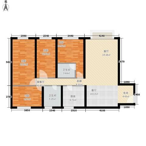 执信大厦4室1厅2卫1厨120.00㎡户型图