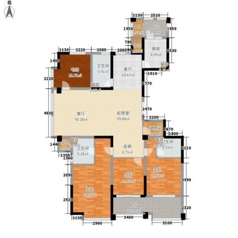 宁海世贸中心4室0厅3卫1厨192.00㎡户型图