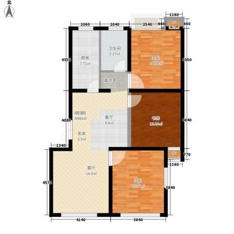 印象生活广场3室0厅1卫1厨104.00㎡户型图