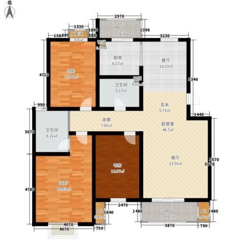 奥林匹克花园石榴苑3室0厅2卫1厨138.00㎡户型图