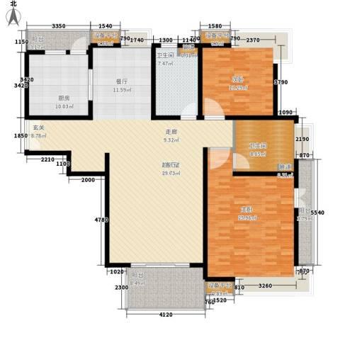 桂和公寓2室0厅2卫1厨160.00㎡户型图