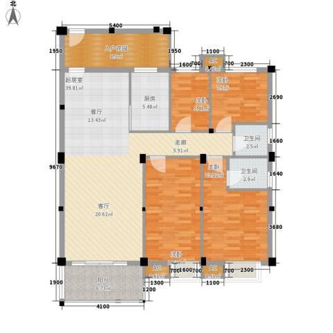 汉基花园4室0厅2卫1厨127.00㎡户型图