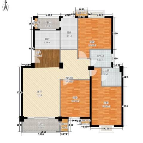 网师巷3室0厅2卫1厨176.00㎡户型图