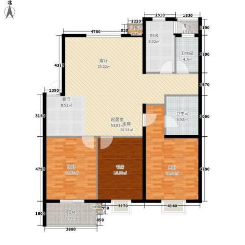 舜都锦都苑3室0厅2卫1厨149.00㎡户型图