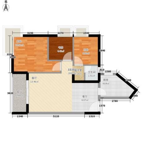 金藏海花园3室0厅1卫1厨138.00㎡户型图