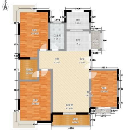 镜湖时代别墅3室0厅2卫1厨135.00㎡户型图