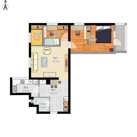 西直门南大街小区3室1厅1卫1厨89.00㎡户型图