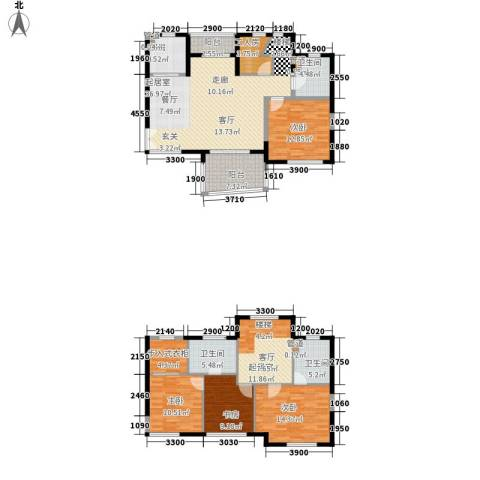 华融琴海湾4室0厅3卫1厨158.00㎡户型图