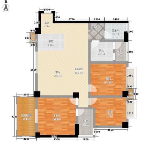 泛林格兰晴天3室0厅1卫1厨124.06㎡户型图