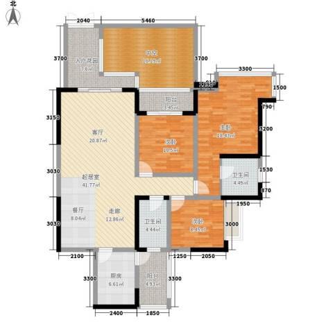 成都A区3室0厅2卫1厨190.00㎡户型图