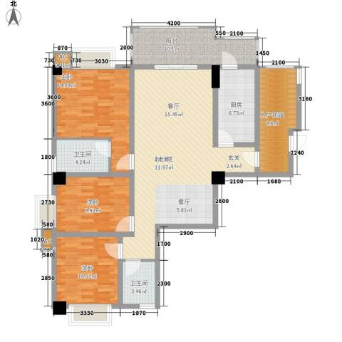 泛林格兰晴天3室0厅2卫1厨120.02㎡户型图