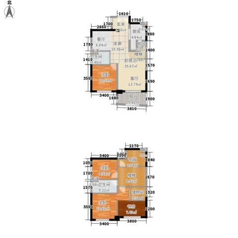 华融琴海湾3室0厅2卫1厨143.00㎡户型图
