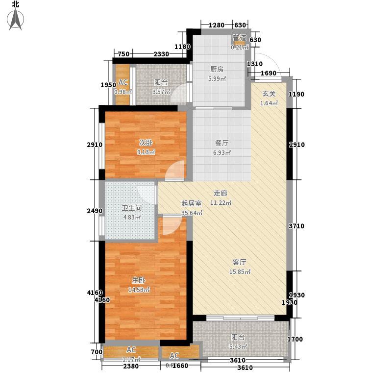 恒大御景湾94.00㎡5栋2-32层04户型