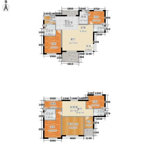 华融琴海湾5室0厅4卫1厨226.00㎡户型图