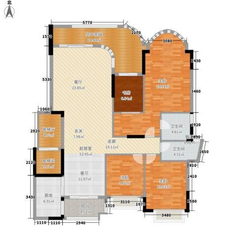 珠江御景湾4室0厅2卫1厨171.00㎡户型图