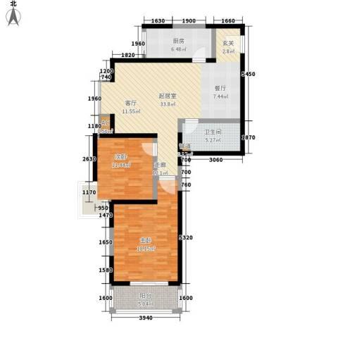 万华园琳苑小区2室0厅1卫1厨93.00㎡户型图