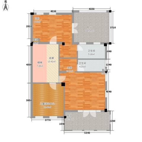 绿城慈溪玫瑰园2室0厅2卫0厨115.00㎡户型图