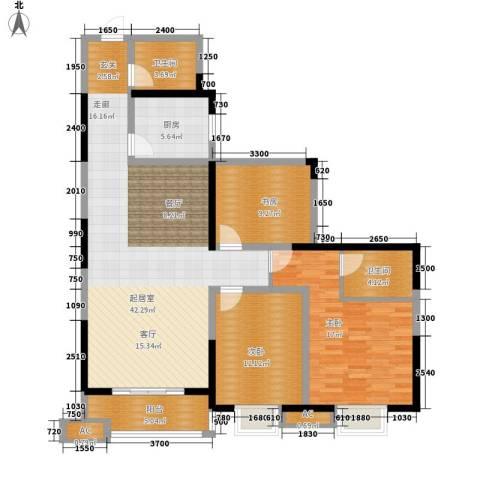阳光嘉庭3室0厅2卫1厨136.00㎡户型图