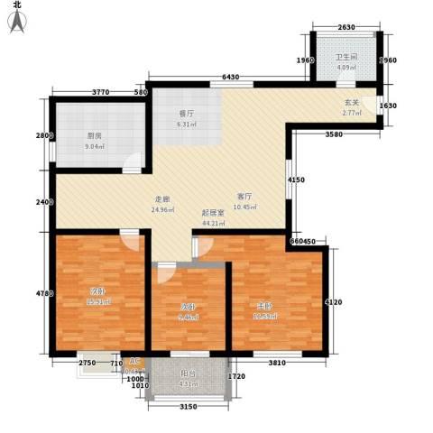 万华园琳苑小区3室0厅1卫1厨118.00㎡户型图