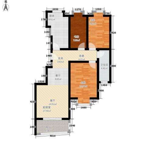 广顺现代城3室0厅1卫1厨112.00㎡户型图