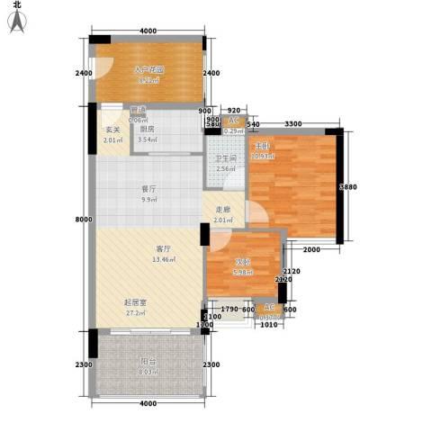 泰富御山郡2室0厅1卫1厨78.00㎡户型图