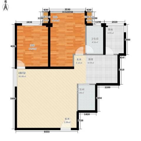 三箭如意苑2室0厅2卫1厨119.00㎡户型图