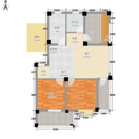 志城江山郡2室0厅1卫1厨92.98㎡户型图