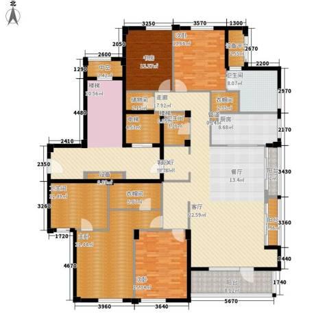 绿城慈溪玫瑰园4室1厅3卫1厨220.00㎡户型图