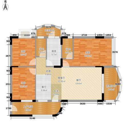 丽湾花园3室1厅0卫1厨142.00㎡户型图