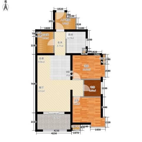 启新18893室1厅1卫1厨119.00㎡户型图