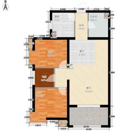 启新18893室1厅1卫1厨110.00㎡户型图